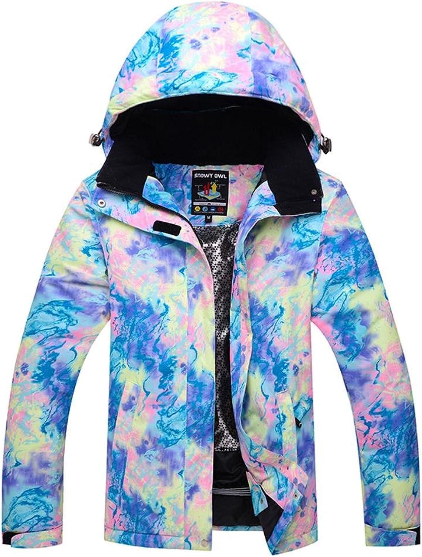 HOTIAN Womens Waterproof Snowboarding Jackets Winproof SKi Jackets Ski Bibs Set