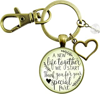 Wedding Coordinator Gift Keychain A New Life We Start Rustic Jewelry Thank You Planner Appreciation Note Card