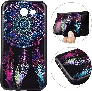 Galaxy J7 2017 Case, Samsung Galaxy SM-J727A Back Case, Rosa Schleife Ultra Thin Flexible Soft Gel TPU Rubber Silicone Bumper Cellphone Case Cover for Samsung J7 2017 Release - Dream Catcher