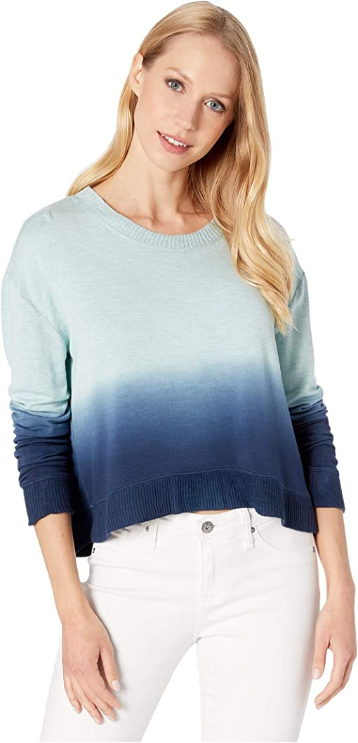 Light Teal Heather Dip-Dye