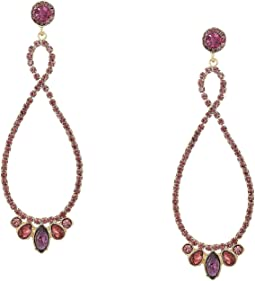 Stone Loop Drop Earrings Amy