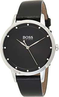 Hugo Boss Womens Quartz Watch, Analog Display And Leather Strap 1502460