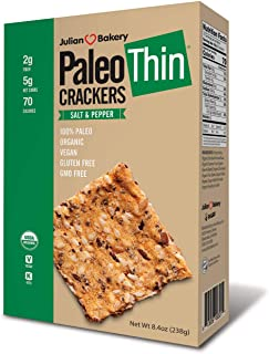 Paleo Thin Crackers (Low Carb -Gluten Free) (Value Pack 6 Boxes) (Value Pack)