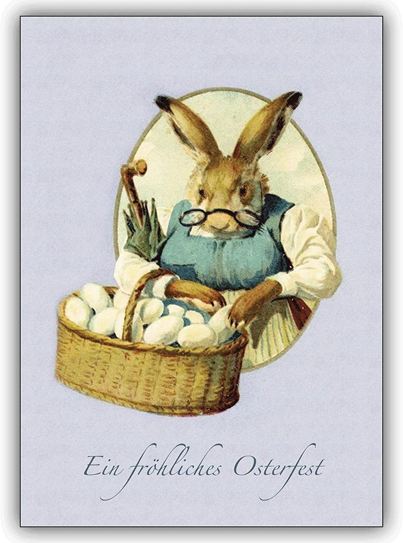 16 Osterkarten (16er Set)  Nostalgische Nostalgische Nostalgische Osterkarte mit Hasenmutter zum Osterfest B00VQK9M1Q | Sofortige Lieferung  edabcf