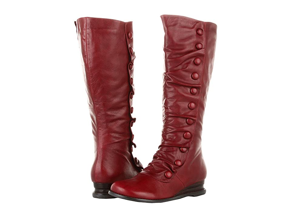 Miz Mooz Bloom Wide Calf (Red) Women's Zip Boots
