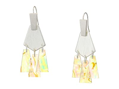 Kendra Scott Rechelle Small Statement Earrings (Bright Silver/White Abalone) Earring