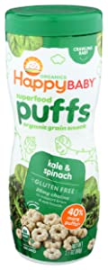 Happy Baby Superfood Puffs, Kale & Spinach, Organic, 2.1 Ounce