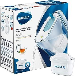 BRITA, Carafe Filtrante, Style, 2.4L, 1 Cartouche Filtrante MAXTRA+ incluse - Bleu