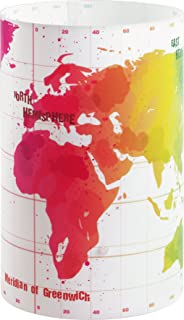 Dalber Map - Lámpara de sobremesa Mapa, E14, Multicolor