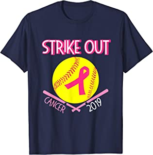 Cute Gift for Teen Girls Team Player Breast Cancer Softball T-Shirt