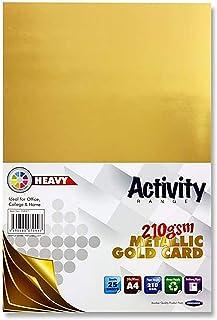 Premier papeterie A4210g/m² carte d'activité–Doré (lot de 25feuilles)