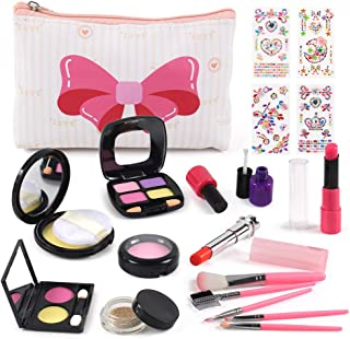 GobiDex Pretend Makeup for Girls Play Makeup Kit,20PCS Fake Make Up Kits with Cosmetic Bag for Little Girls Birthday Christmas,Toy Makeup Set for Toddler Girls Age 2, 3, 4, 5 (Not Real Makeup)