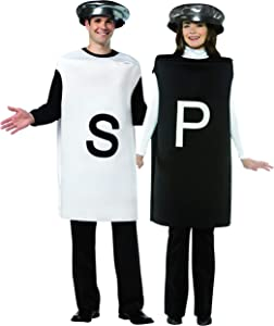 Salt and Pepper Couples Costume Party Condiment Funny Food Costumes, Mens and Womens, Adult One Size