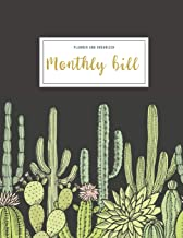 Monthly Bill Planner And Organizer: monthly budget planner cactus | 3 Year Calendar 2020-2022 Bill planner Worksheet | Wee...