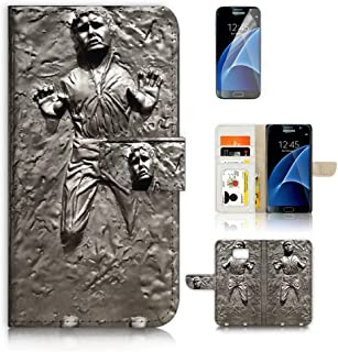 ( For Samsung S7 , Galaxy S7 ) Flip Wallet Case Cover & Screen Protector Bundle - A8555 Starwars Han Solo in Carbonite