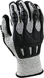Armor Guys 02-030N (XL) 1 Excel, 13 g, Basetek Liner, Black MicroFoam Nitrile Palm Coating with Padded Palm and Back of Hand TPV Protection (One Pair), XL, Gray