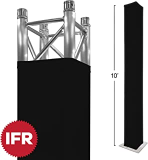 "Stretch Shapes 10 Ft. Truss Cover (Also Fits 3m) For 10` X 12"" Box Truss - Premium Black IFR Stretch Fabric"