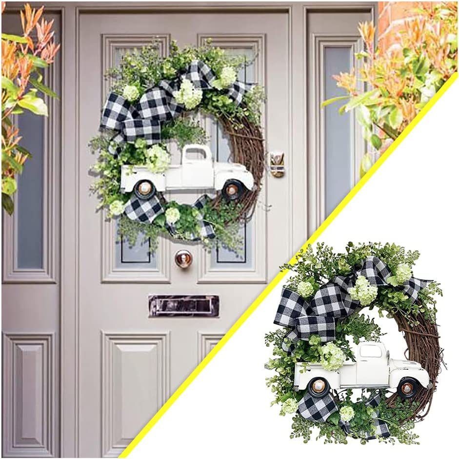 Halloween Autumn Special price for a limited time Wreath - Directly managed store Pumpkin Goods Stolen Door Truck