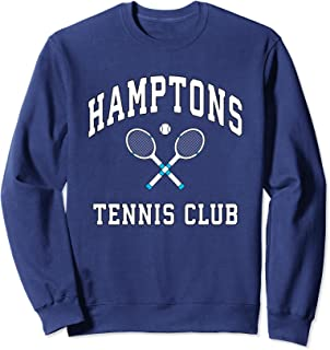 Hamptons Tennis Club Preppy New York Montauk Varsity Sweatshirt