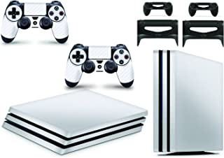Gizmoz n Gadgetz PlayStation 4 コンソール スキン ビニールカバー デカール ステッカー + コントローラースキン2枚セット, Playstation 4 Pro, GNG-PS4-PRO-CARB-WHITE-S...