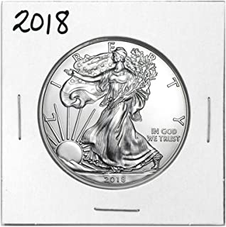 2018 - American Eagle Silver 5 Coins $1 Brilliant Uncirculated US Mint with our Certificate of Authenticity Uncirculated
