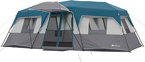 20 x 10 x 80 12-Person Instant Cabin Family Tent 3-Room Layout with 2 Removable Room Dividers