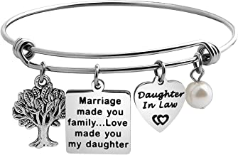 WUSUANED Marriage Made You Family Love Made You My Daughter Bracelet for Daughter in Law