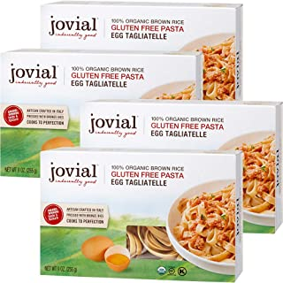 Jovial 100% Organic Gluten Free Brown Rice Pasta, Tagliatelle, 4 Count
