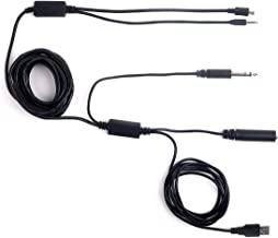 V2 18FT ATC Radio Audio Recording Cable with Dual Output for Gopro Phone Audio Recorder Extra Long 18ft / 5meter Airplane Cockpit Intercom with USB Power HERO3 / HERO3+ / HERO4, NOT FOR HERO 5 AND UP