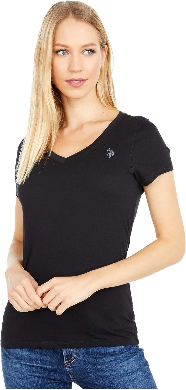 Womens Short Sleeve V-Neck T-Shirt Polo Assn U.S
