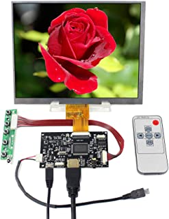 "VSDISPLAY 8"" 1024X768 IPS LCD 8 inch HJ080IA-01E with HD-MI Controller Board, fit to The Raspberry Pi"