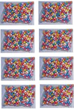 Thermocol Balls, 8 SmallPacks, MixColor