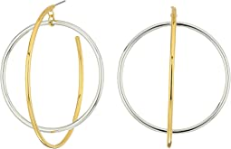 Rebecca Minkoff - Mixed Metal Satelite Hoops Earrings