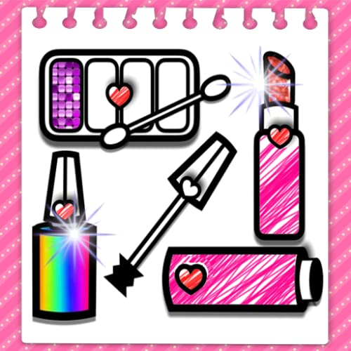 Glitter Fashion Beauty and makeup Coloring Book For Kids