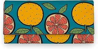 ShopMantra Yellow Orange Canvas Printed Artificial Leather Women Wallet|Clutch|Ladies Purse