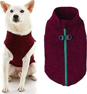 Gooby - Zip Up Fleece Vest, Fleece Jacket Sweater with Zipper Closure and Leash Ring, Fuchsia Wash, X-Small