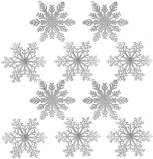 silver snowflakes decorations