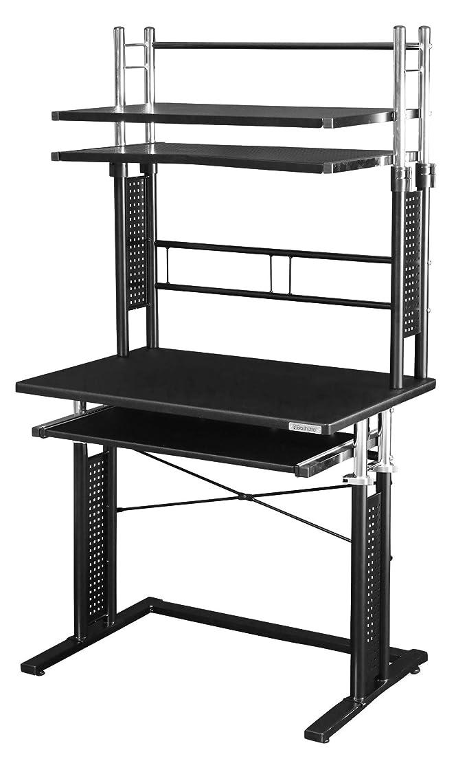 ベテラン機転タブレットBauhutte 昇降式パソコンラック ブラック 天板昇降:64~85cm BHD-750PRM