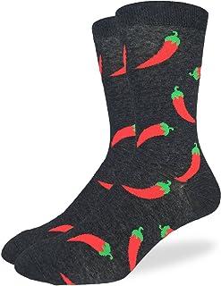 Sponsored Ad - Good Luck Sock Men`s Hot Pepper Crew Socks - Black, Adult Shoe Size 7-12