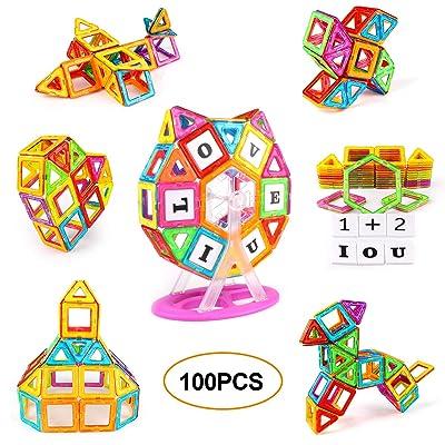 KIDCHEER Magnet Building Tiles, Magnetic 3D Bui...