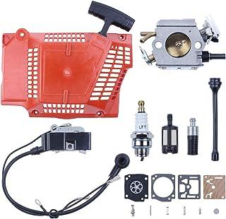 Haishine Kit de diafragma de carburador de Bobina de Encendido de Bobina de Encendido de para Husqvarna 362 365 371 372 Línea de Filtro de Fuel Oil de Motosierra