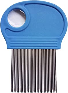 Head Lice Comb With Magnifying Tool to Detect Lice. Effectively removes Lice, Nits and Lice Eggs, Suitable for all hair types.