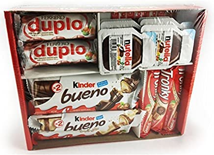 Ferrero Variety Pack 24 ct Assorted Hazelnut Chocolates & Hazelnut Spread - Kinder Bueno | Kinder