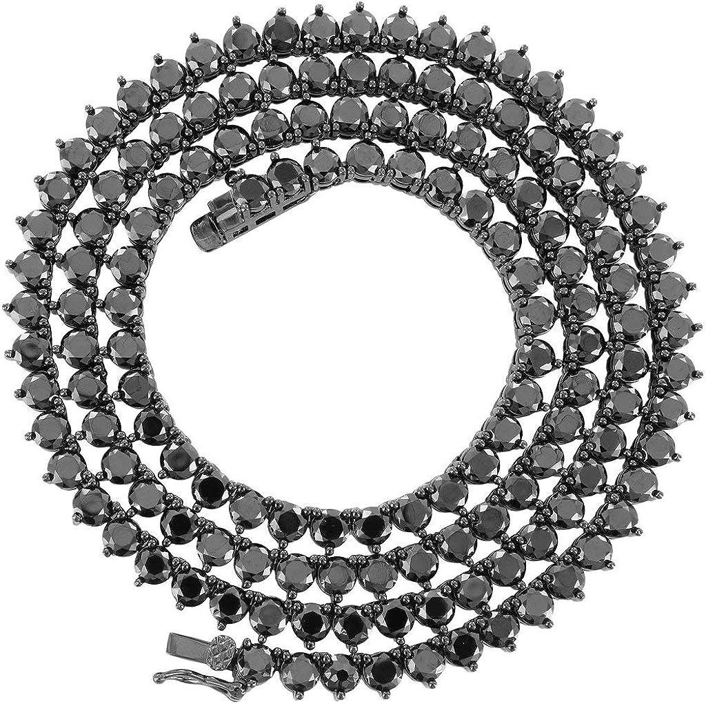 shopping Unisex 1 Row Tennis Necklace Choker Diamonds Created 4 Lab Chain Ranking TOP16