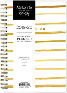 Ashley G for Blue Sky 2019-2020 Academic Year Weekly & Monthly Planner, Flexible Cover, Twin-Wire Binding, 5