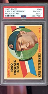 1960 Topps #148 Carl Yastrzemski ROOKIE STAR RC Boston Red Sox PSA 8 (OC) Graded Baseball Card