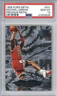 Michael Jordan 1996 Fleer Metal Precious Metal Shredders #241 Card PSA 10 - Unsigned Basketball Cards