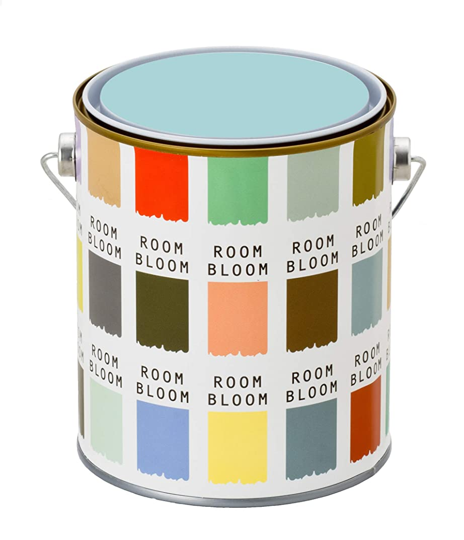 毎日物語つらい水性塗料(室内 壁用 内装 ペンキ) ROOMBLOOMMatte 1kg カラー:quiet room(青 ブルー くすんだブルー)