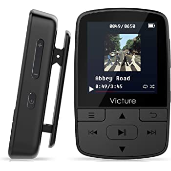 Victure MP3 Player Clip Bluetooth 8G with FM Radio Sport Pedometer Voice Recorder Earphones Expandable up to 128GB