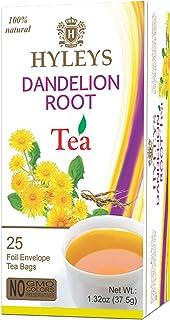 Hyleys Natural Wellness Dandelion Root & Green Tea - 25 Tea Bags (100% Natural, Sugar Free, Gluten Free and Non-GMO)